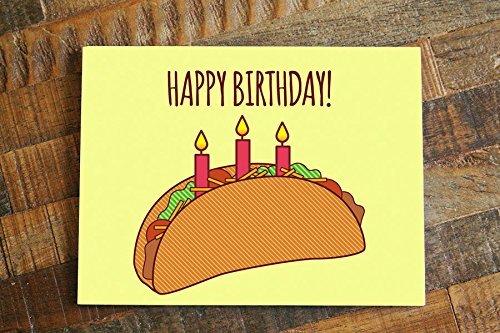 Amazon Taco Birthday Card Happy Birthday Funny Card For