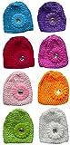 Bella Set of 8 Toddler Knitted Bonnets Baby Girl Hats U16250-0020-8