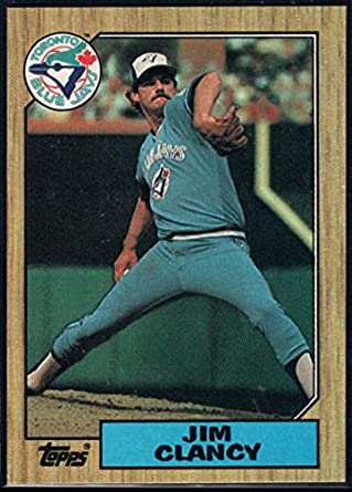 Amazoncom Baseball Mlb 1987 Topps 122 Jim Clancy Blue Jays