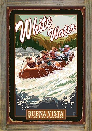 Buena Vista Colorado White Water Rafting Rustic Metal Print on Reclaimed Barn Wood by Mike Rangner (12