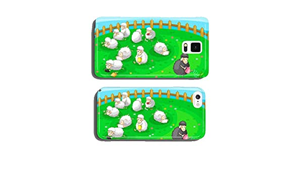 Good black sheep in spoil white sheep herd (vector) cell phone cover case Samsung S6: Amazon.es: Electrónica