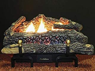 "product image for Deluxe Millivolt LP Gas Fueled Ceramic Log Set Size: 30"""