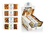 Marmara Croquant Healthy Nut Bars Variety Pack including Pistachio Peanut Sesame and Hazelnut 20 Individually Packed Bars 1.2 Oz each