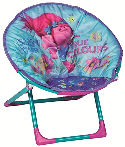 Trolls Childrens Folding Moon Chair Kids Round ()