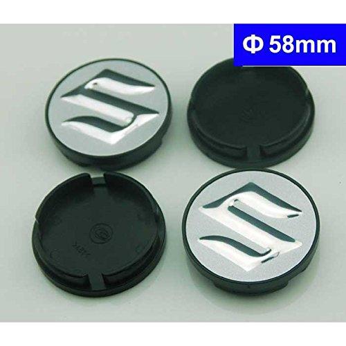 4pcs W138 58mm Car Styling Accessories Emblem Badge Sticker Wheel Hub Caps Centre Cover SUZUKI Swift Grand Vitara Alto SX4 Splash Kizashi
