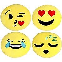 Large Emoji Pillows 4 Piece Set, 12 Inches / 30CM, Large...