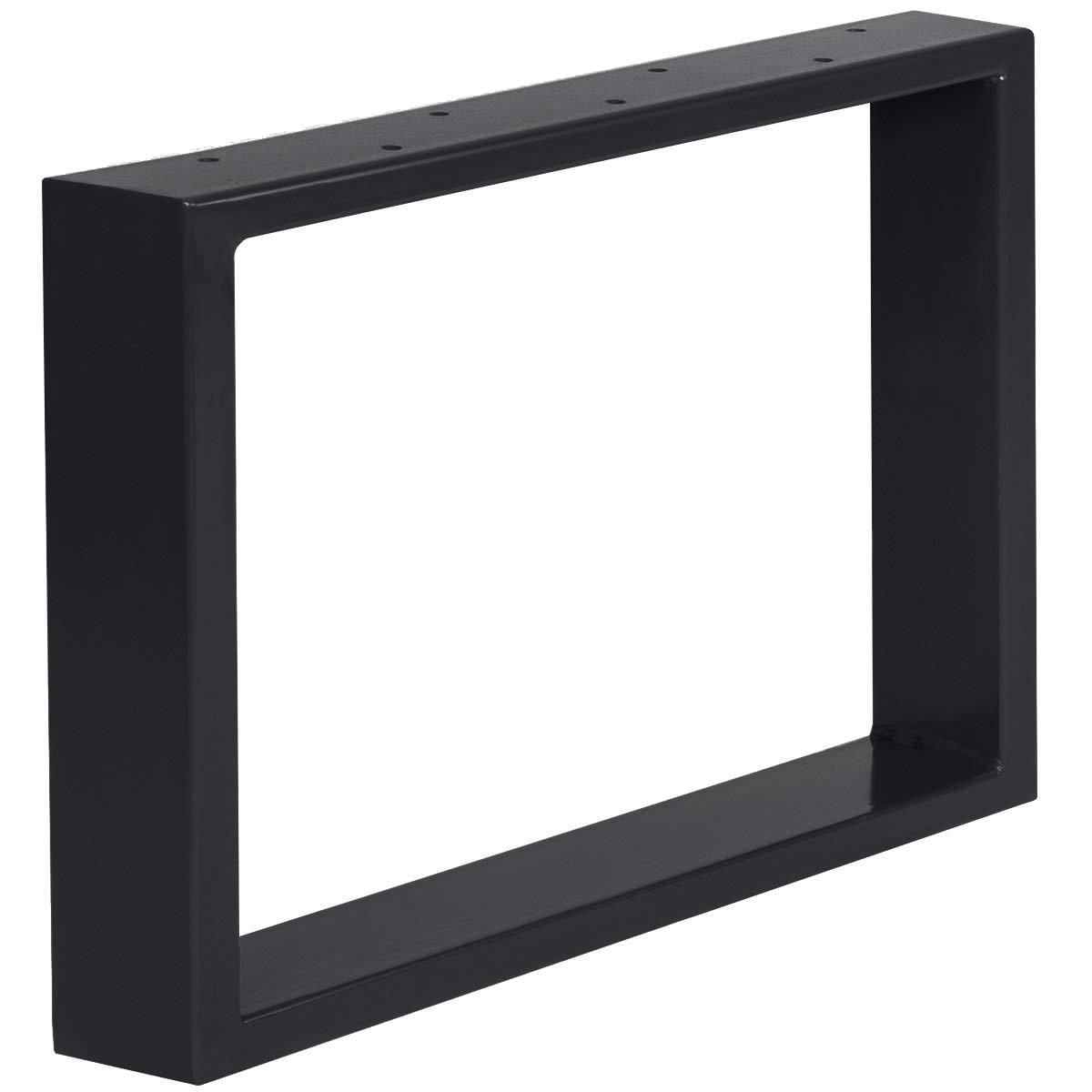 HLT-01-A-GG-9005 Cadre 90x72 cm Noir Fonc/é HOLZBRINK 1x Pied de Table en Profil/és dAcier 100x20 mm