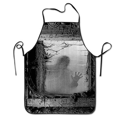 PoppyAnthony Zombie Outside from Spiderweb Dirty Glass Striking Nightmare Killer Terror Cooking Apron Personalized Chef Apron for Women Men Kitchen Bib Apron