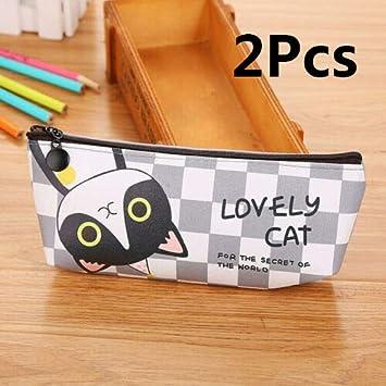 Supertool - Estuche para lápices de gato, 2 unidades, diseño de gatito: Amazon.es: Bricolaje y herramientas