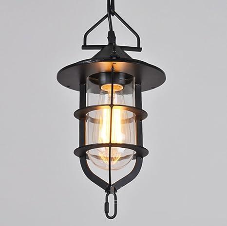 E27 Lámpara colgante VINTAGE - Lámpara de techo retro Edison ...