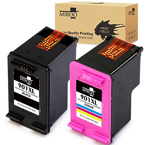 - MIROO Remanufactured Replacement for HP 901XL 901 Ink Cartridges Combo,Work for HP OfficeJet J4540 J4580 J4660 G510a J4680c G510n J4524 J4550 4500 J4624 J4640 J4680 G510g Printer