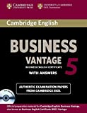 Cambridge English Business 5 Vantage Self-study Pack (Student's Book with Answers and Audio CDs (2)) (BEC Practice Tests)
