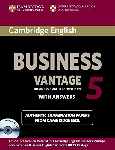 Cambridge English Business 5 Vantage Self-study Pack (Student's Book with Answers and Audio CDs (2)) (BEC Practice Tests) by Cambridge English