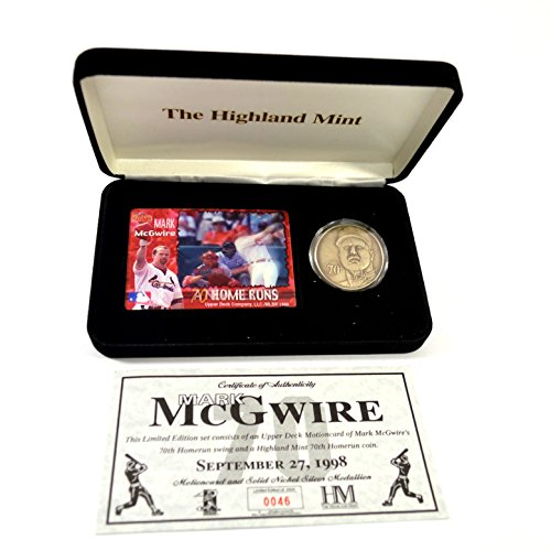Highland Mint Mark McGwire Nickel Silver Coin & Motion Card Set # out of 2,500