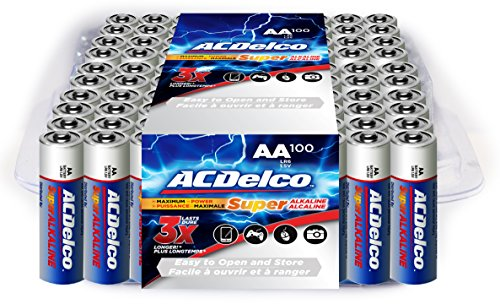 ACDelco Super Alkaline AA Batteries, 100-Count