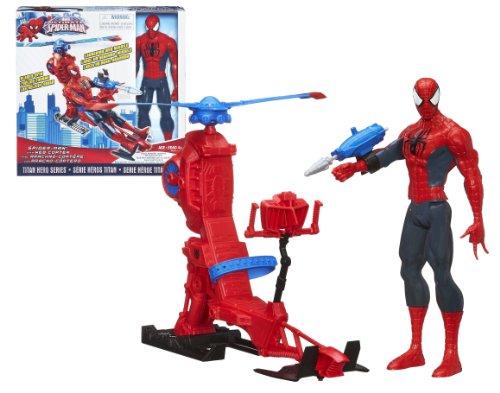 figurine spiderman 30 cm et helicoptere. Black Bedroom Furniture Sets. Home Design Ideas