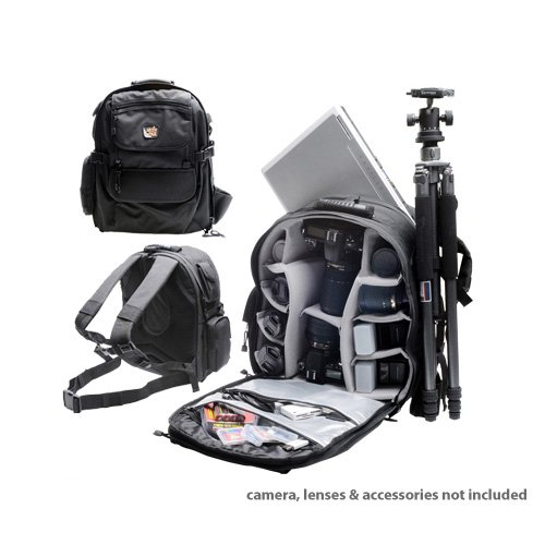 Professional All Weather Multi Purpose Photo/ Computer Laptop Backpack for Canon EOS (1000d Kiss)
