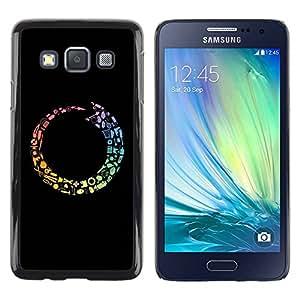 Caucho caso de Shell duro de la cubierta de accesorios de protección BY RAYDREAMMM - Samsung Galaxy A3 SM-A300 - Colorful Tool Cycle