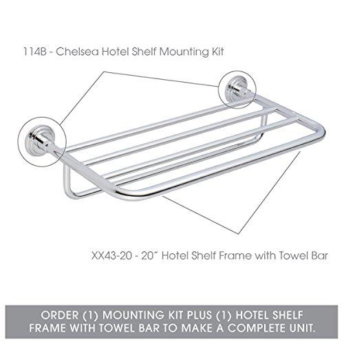 Ginger XX40-24/PC Hotel Shelf Frame, 24'', Polished Chrome by Ginger (Image #2)