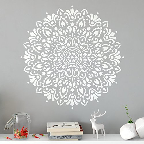 Top 9 best wall stencils for painting large mandala for 2019