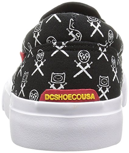 DC - Jugend Trase Slip-On Skate-Schuhe, EUR: 33.5, Black/White/Red