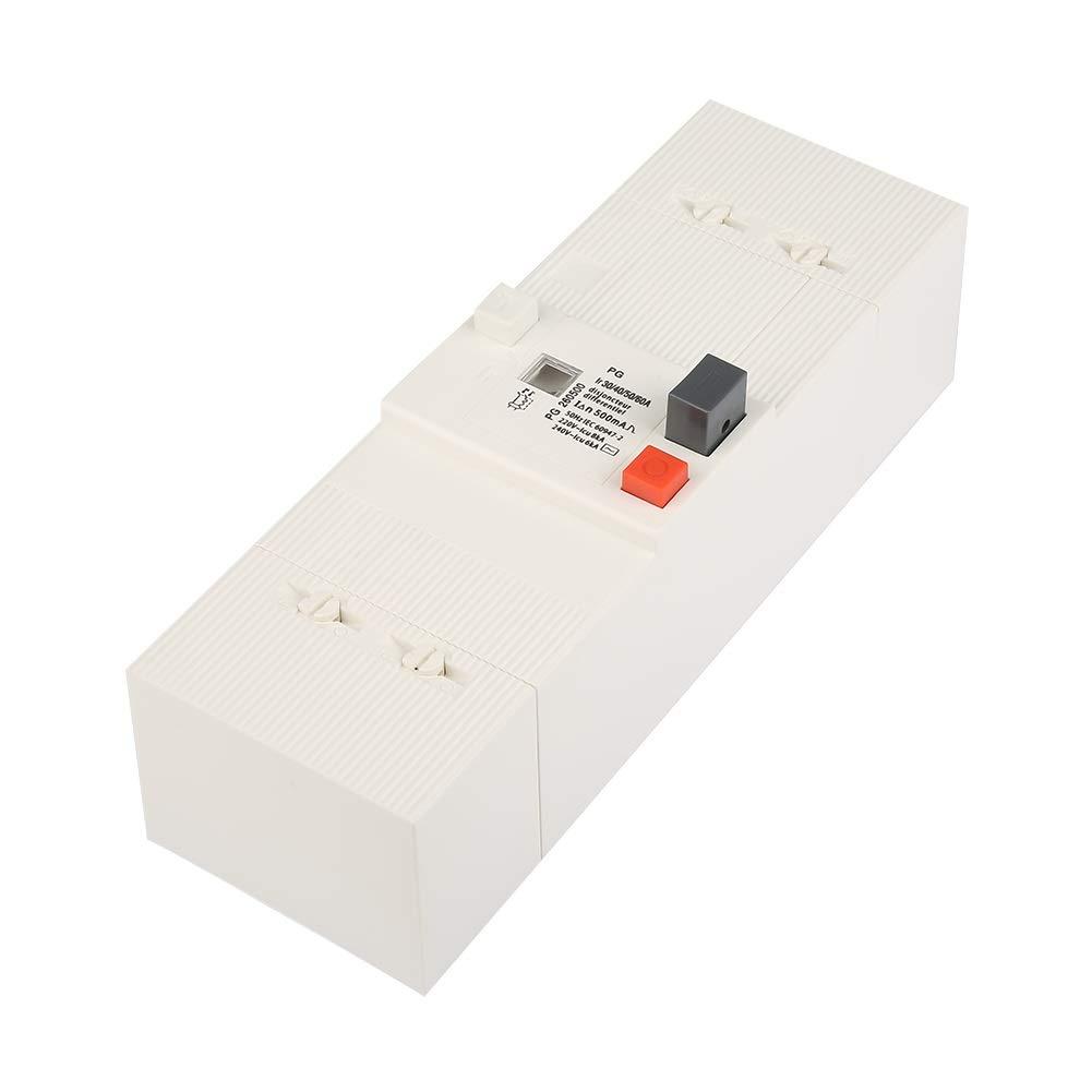 Disjoncteur 60Hz Interrupteur pneumatique de protection pour disjoncteur basse tension 30-60A 2 p/ôles 50Hz