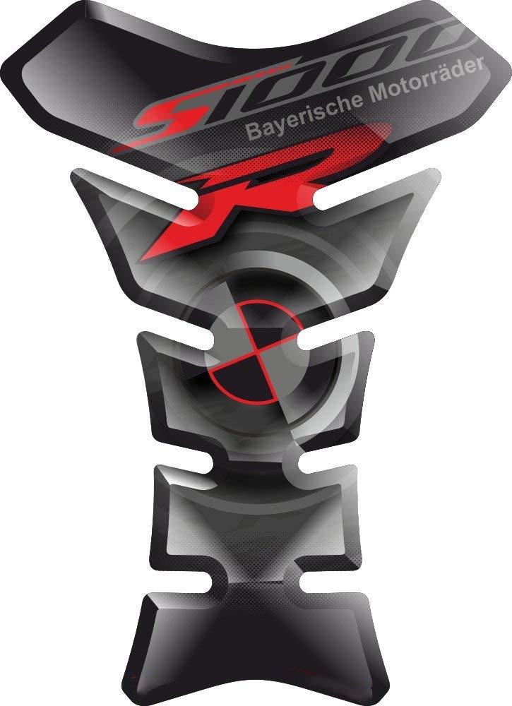 TANKPAD RESINATO EFFETTO 3D compatibile con BM.W S1000R S1000 S 1000 R BM.WS1000R S-1000R S-1000 v3 TANKSCHUTZ PROTECTION DE RESEVOIR PARASERBATOIO ADESIVO
