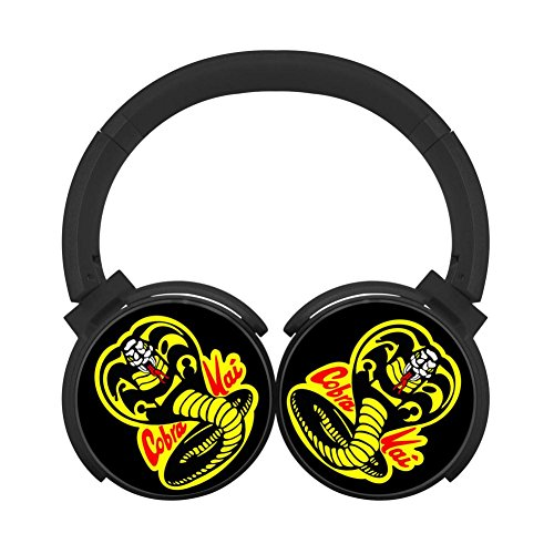 (DMgui Cobra Kai Dojo Headphones Over-Ear Stereo Fold Wireless Bluetooth Earphone Black)