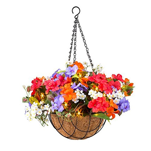 Outdoor Lighted Hanging Baskets - 3