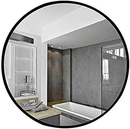 Runder Badezimmerspiegel.Amazon De Spiegel Runder Badezimmerspiegel Aus Schmiedeeisen An Der Wand Befestigter Schwarzer