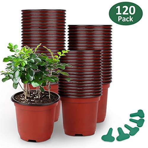 GROWNEER 120 Packs 4 Inches Plas...