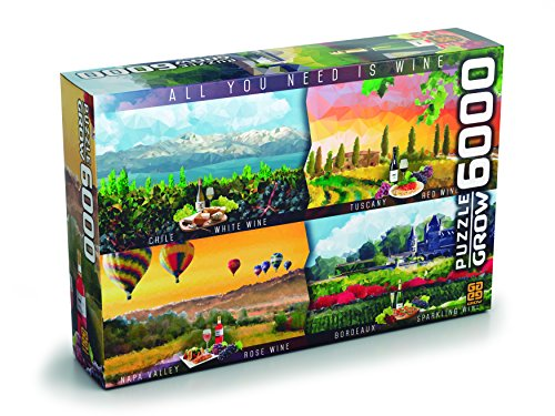 Quebra-Cabeças Vinhos do Mundo 6000 Peças  Grow
