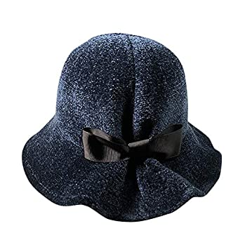 2760821c242fb Image Unavailable. Image not available for. Color  Tiean Fashion Vivid  Color Women Winter Keep Warm Hat Fisherman Hat Bowknot Caps ...