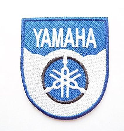 Amazon.com: ymaha color azul escudo Motocross Racing hierro ...