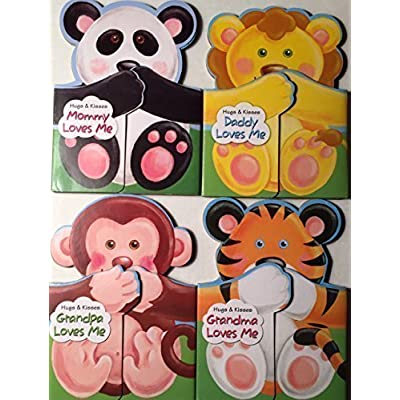Hugs and Kisses Book Set, Daddy Loves Me, Grandma Loves Me, Grandpa Loves Me, and Mommy Loves Me: Toys & Games