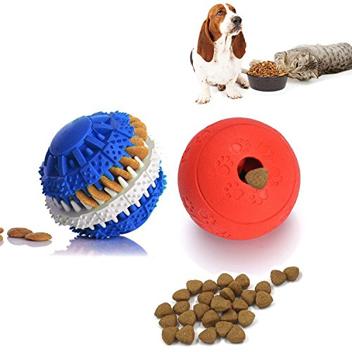 Dog Chew Toys, PESTORY Non-Toxic Rubber Puzzle Dog Treat Slo