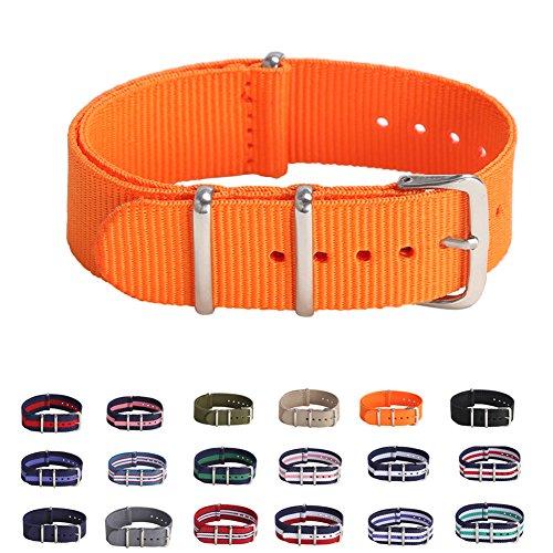 STYLELOVER Premium Canvas Fabric Watch Bands Ballistic Nylon Straps Width 18mm or 20mm (Timex Strap 20mm)