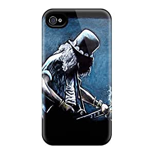 Iphone 4/4s Case Cover With Shock Absorbent Protective MZA4114CFKv Case
