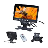 7 Inch TFT LCD Car Monitor Screen Rotatable NTSC/PAL Video System for Car Reversing Parking with IR remote control