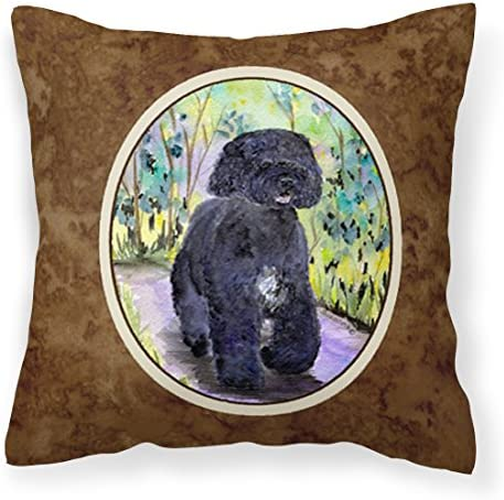 Caroline s Treasures SS8264PW1414 Portuguese Water Dog Decorative Canvas Fabric Pillow, 14Hx14W, Multicolor
