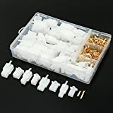 Summer-Home 400Pcs 2.8mm Pitch 2 3 4 6 Pin Male & Female Plug Housing and Male/female Pin Header Crimp Wire Terminals Connector Assortment Kit