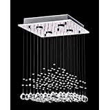Saint Mossi® Crystal Rain Drop Chandelier Modern & Contemporary Ceiling Pendant Light H22 X W16 X L16