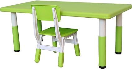 Verniciare Tavolo Di Plastica.Folding Table And Chair Set Da Tavolo E Sedia Per Bambini Tavolo Da Gioco Per Attivita Di Gioco Pasto Verniciatura Regolabile In Altezza Tavolo Da Gioco Giocattolo In Plastica Sicuro E Resistente Amazon It Casa