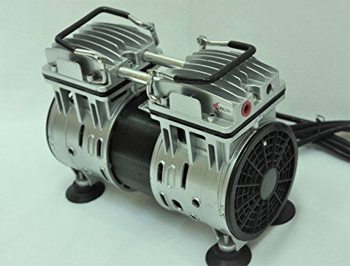 Twin Piston Oilless Oilfree Oil-less oil-free Vacuum Pump 5.5CFM 3/4 HP Good for Dairy Farm Milker Pulsator Hookup Epoxy Resin Infusion Workshop Bagging Medical/Dental Office Clean Continuous Duty (Vacuum Continuous Regulator)