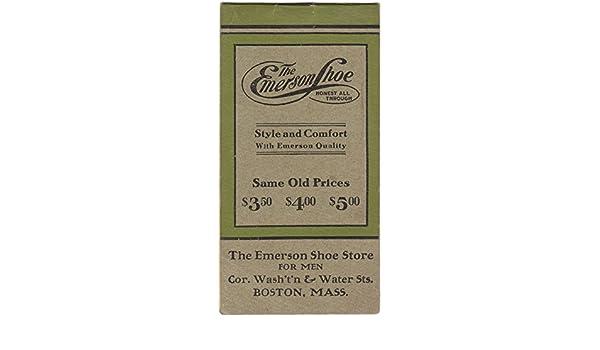 3aee2acece81 The Emerson Shoe Company Advertising Memorandum Booklet: Emerson ...