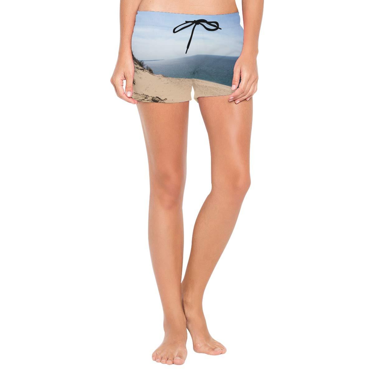 NWTSPY Sleepy Tater Womens Sport Beach Swim Shorts Board Shorts Swimsuit with Mesh Lining