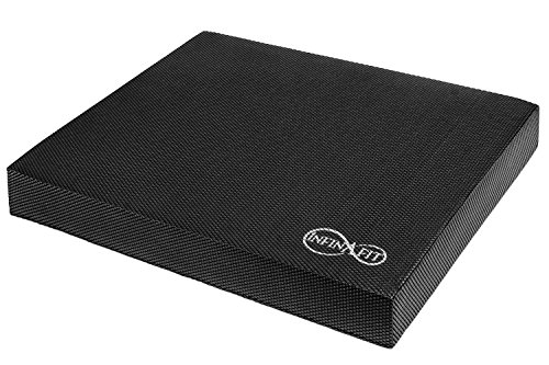 Infinafit Balance Pad | Black Soft Foam Pad 17 x 13 x 2.4 inches | Core Strengthening, Sports Training, Yoga, Physical Therapy, Rehabilitation, Cushioning and More (Black)