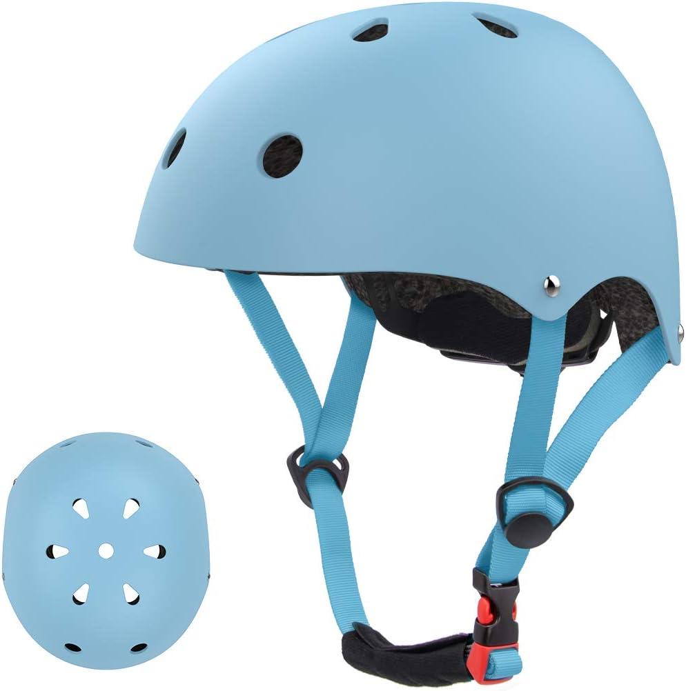 LANOVAGEAR Kids Skateboard Helmet, CPSC Certified Bike Helmet for 2-14 Years Old, Multi-Sport Cycling Helmet for Toddler Youth Boys Girls