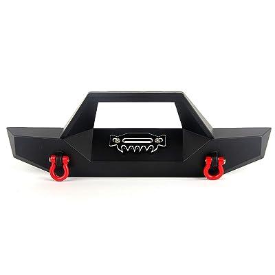 LCX Racing 1//10th RC Crawler Car CNC Machined Aluminum Alloy Rear Bumper w//Hitch for RC Car TRX4 TRX-4 Axial SCX10 II 90046 90047 D90 Upgrades Parts Accessories