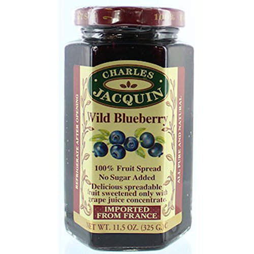 Charles Jacquin French All Natural Fruit Spread 11.5 Ounce Imported From France (Wild Blueberry)